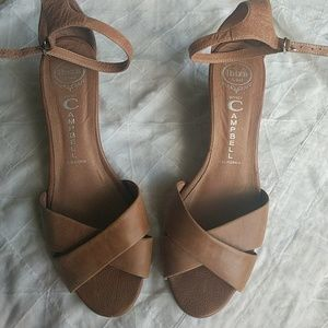 JEFFERY CAMPBELL/ leather wedges